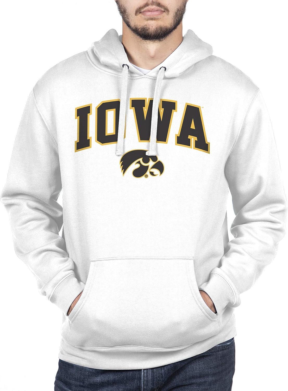 XX-Large NCAA Iowa Hawkeyes Mens Hoodie Sweatshirt White Arch White