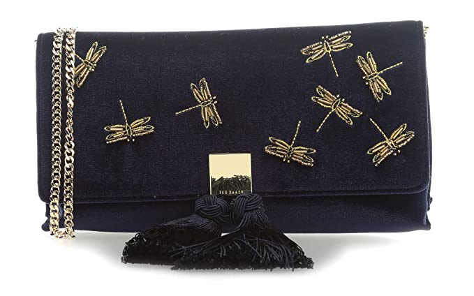 55dc86dbb Ted Baker Kasia Clutch bag dark blue  Amazon.co.uk  Clothing
