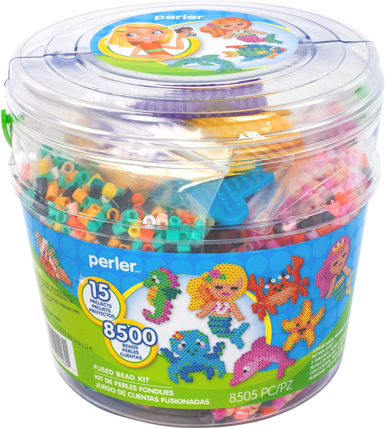 Perler Beads Emoji Bucket 8500pc 6.5L x 6.5W x 6H