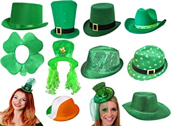 ST PATRICKS DAY IRISH HATS FOR ANY IRELAND ST PADDYS DAY FANCY DRESS PARTY  FOR MEN 4da30a69f8d5