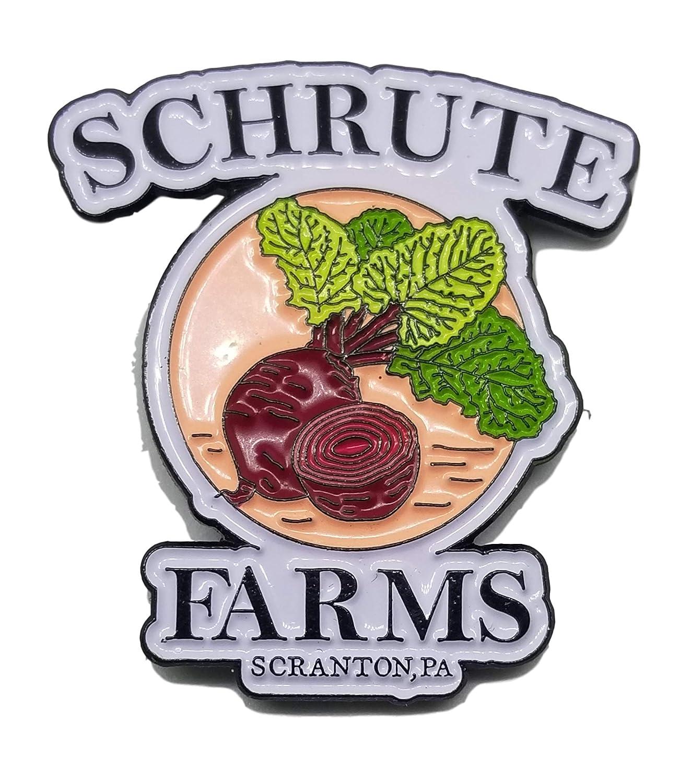 Enamel Lapel Pin Schrute Farms Beets Office Hats etc. Jackets Dwight Favorite For Backpacks