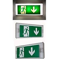 Cartel con luz de emergencia para salida