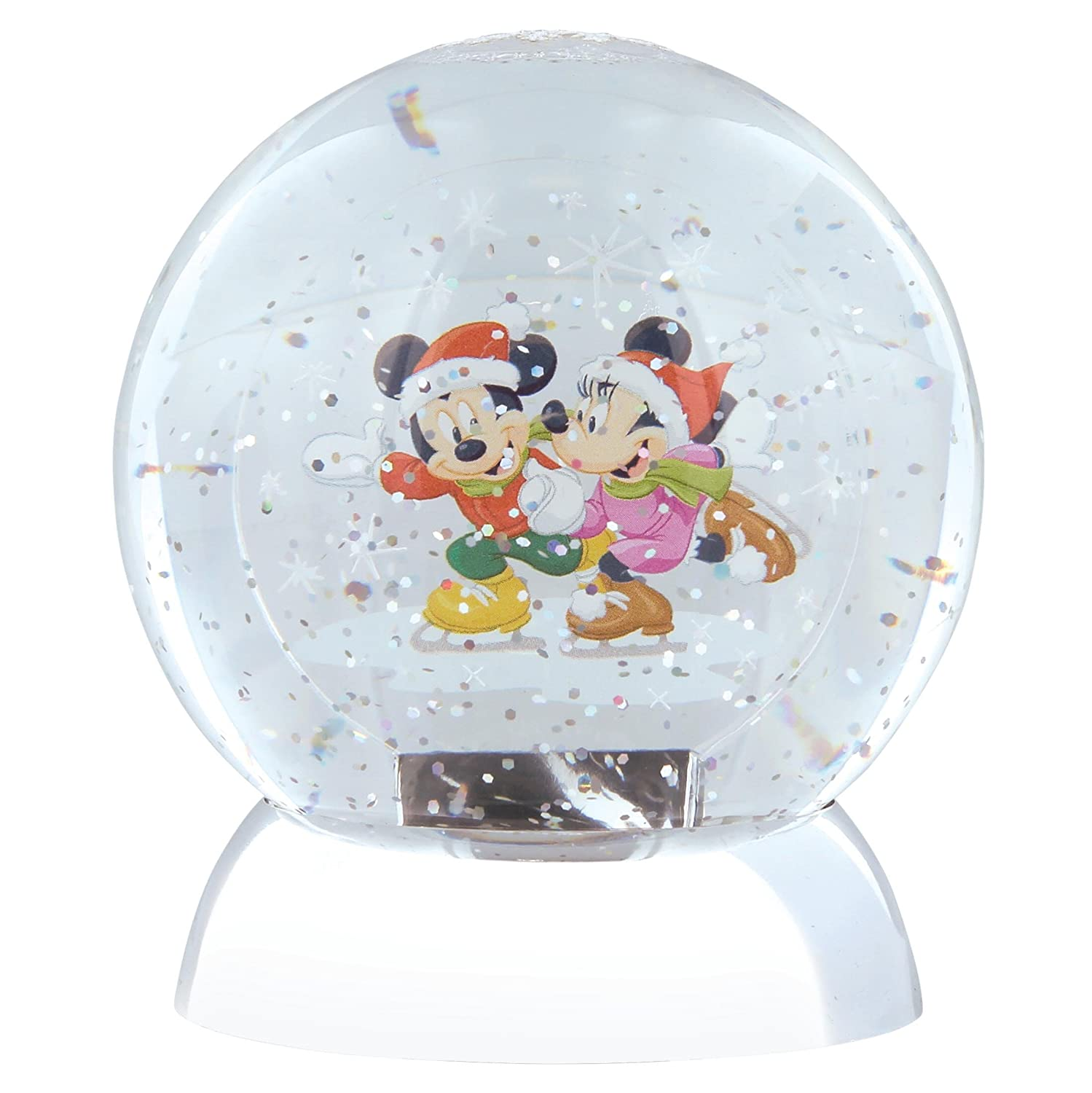 Disney Department 56 Mickey & Minnie Mouse Waterdazzler Globe, Plastik, Multicolour, 10 x 10 x 12 cm
