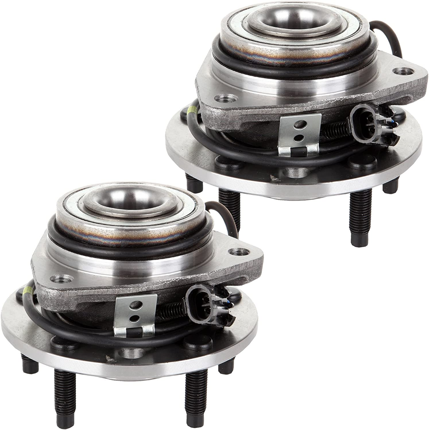 ECCPP Replacement for Front Wheel Hub Bearing Assembly 5-Lugs W/ABS for 97-05 Chevy Blazer 97-04 S10 97-05 GMC Jimmy 97-04 Sonoma 4WD 513124 2pcs