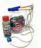 Dr Zigs Original Giant Bubbles - Pocket Kit - 10x Concentrate Mixture for 1 Litre Giant Bubble Solution - 1 Set Wooden Wands - 1 Giant Bubble Rope - with Bucket - Fun Garden Outdoor Toy Game Activity
