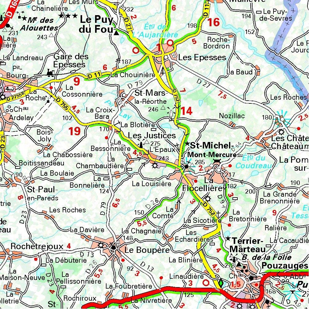 Carte détaillée de la Vendée » Vacances - Arts- Guides Voyages