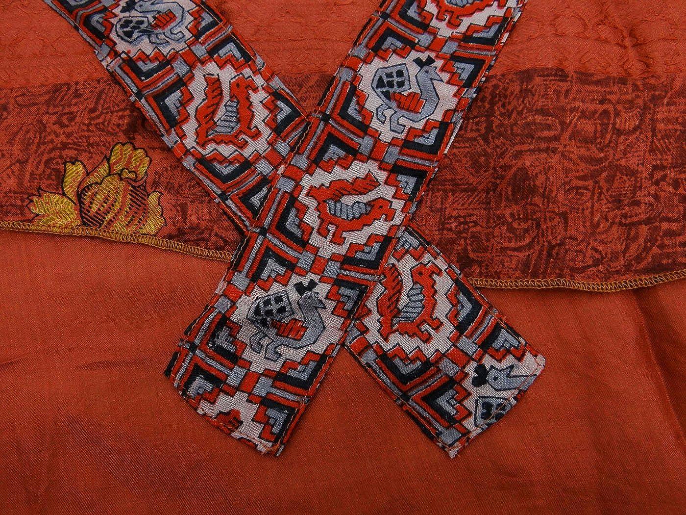 Vestido de Verano de la Falda de Seda Pura Reversible Hippie Wrap ...