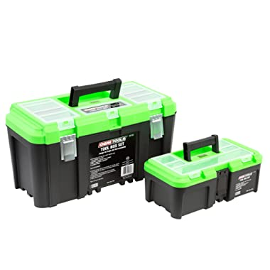 OEMTOOLS 22180 Tool Box Set Includes 19  Tool Box, 12.5  Tool Box with Removable Tool Tray