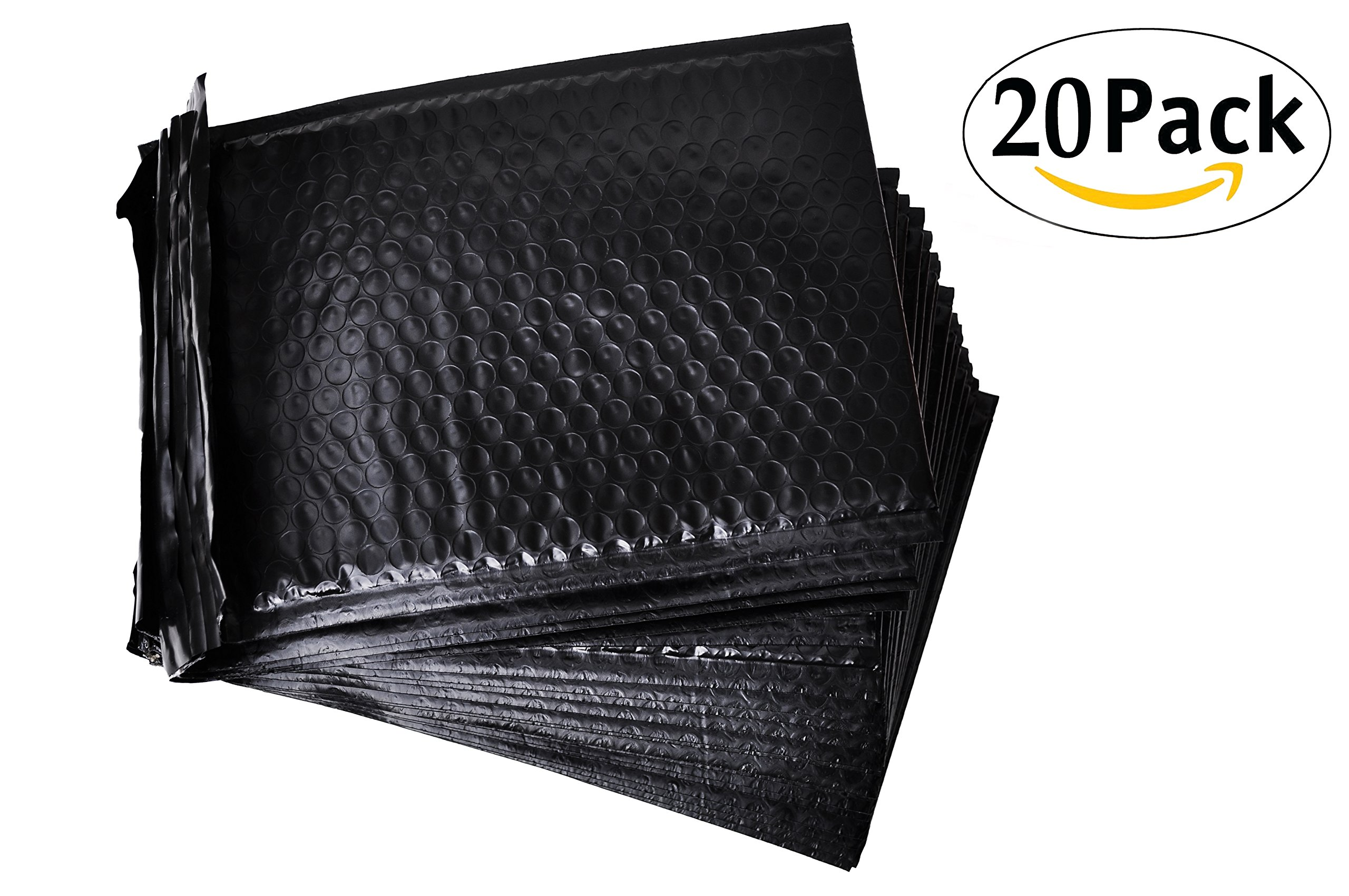 Poly Bubble mailers Padded envelopes 9.5 x 13.5. Pack of 10 Large Black cushion envelopes 9 1/2 x 13 1/2. Exterior size 10x14. Peel-N-Seal. Mailing & shipping & packaging & wrapping. Mfg# 10x13. by Amiff (Image #2)