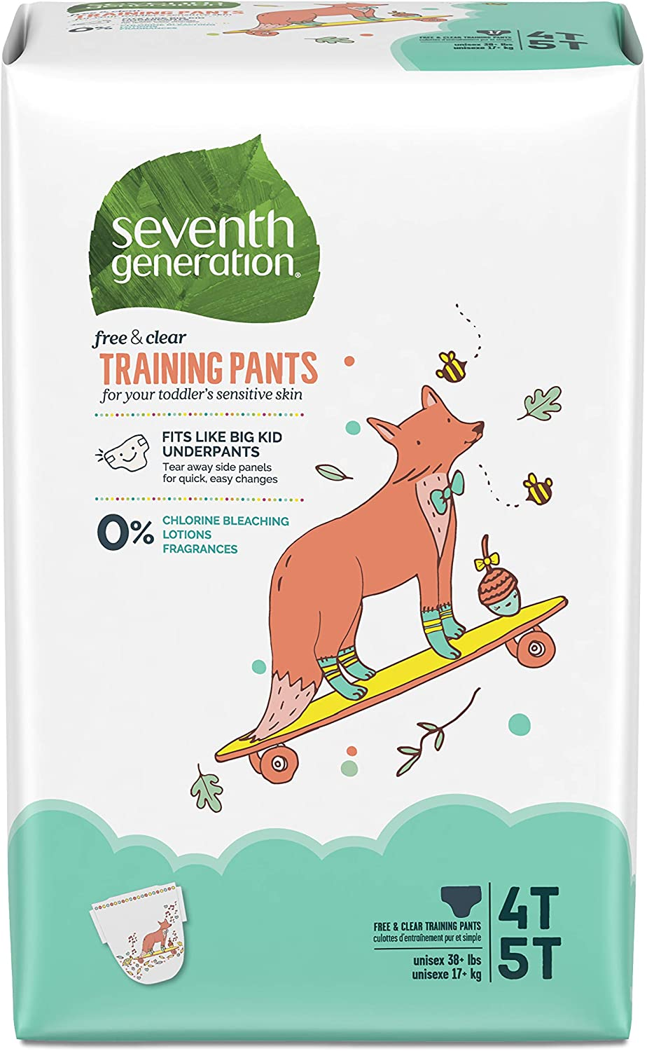 Seventh Generation Baby & Toddler Training Pants, XLarge Size 4T-5T, 68 count (Packaging May Vary): Health & Personal Care