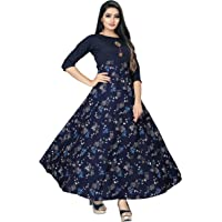 Ethnic 4 You Women Long Fit & Flare Sttiched Gown(Multi-color)_GW18