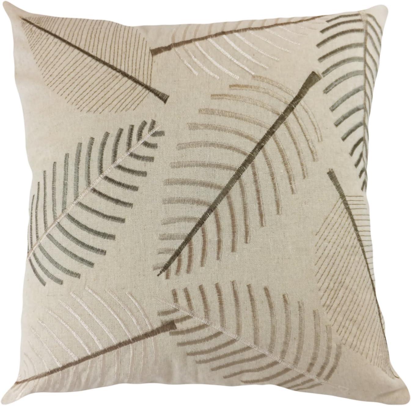 leaf themed throw pillows