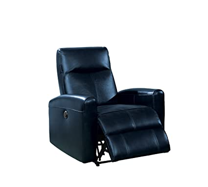 Amazon.com: Acme Furniture 59690 Blane Power Recliner, Navy ...
