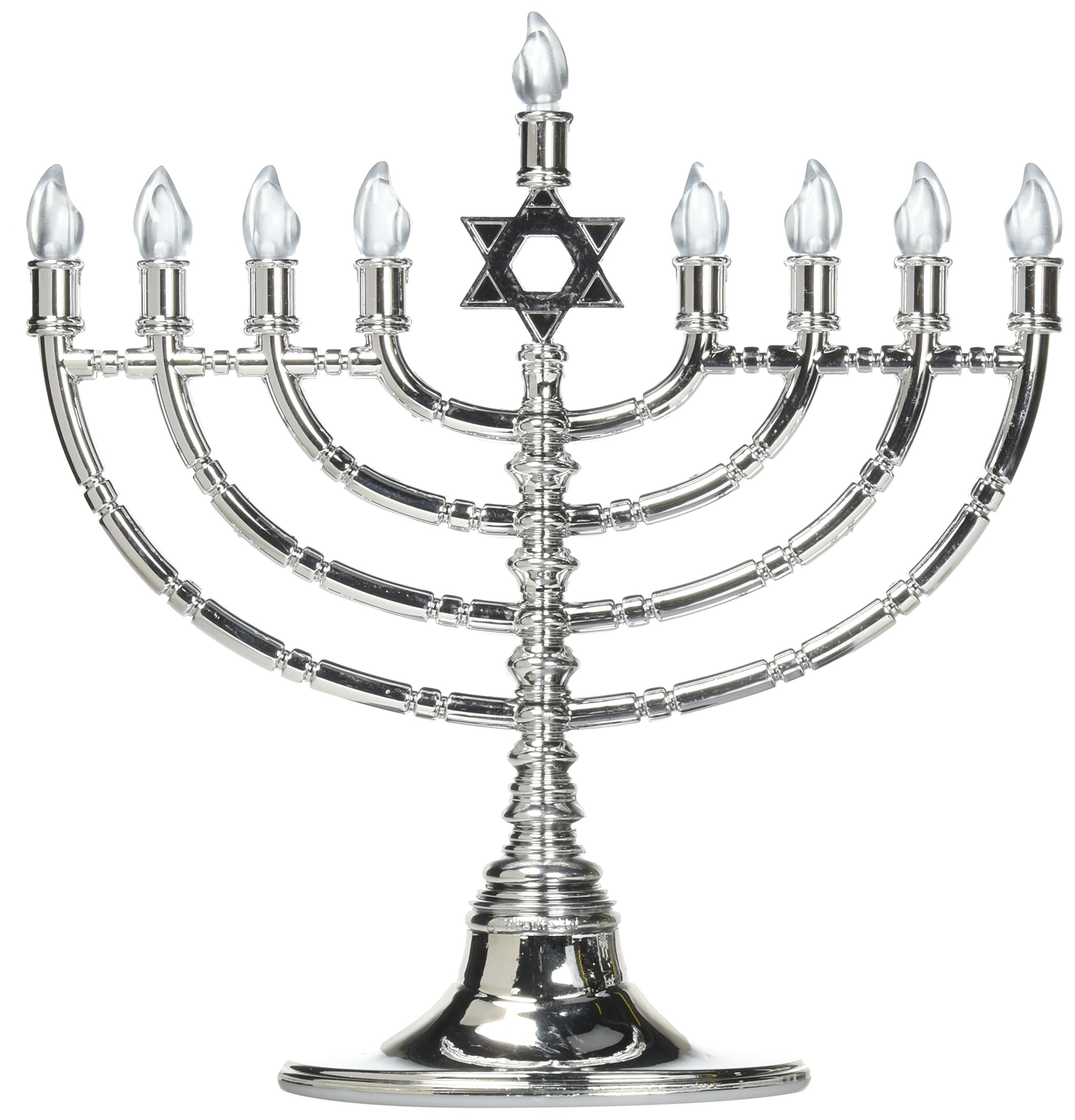 Rite Lite LTD JRN 210 Silvertone Low Voltage Led Menorah by Rite Lite