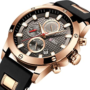 b2aa7f6fb70 Mens Watches Chronograph Waterproof Sports Designer Rose Gold Large Face  Luminous Date Wrist Watch Luxury Fashion