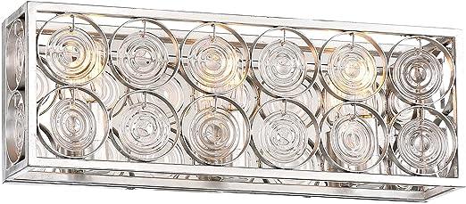 Catalina Silver Minka Lavery Wall Light Fixtures 4664-598 Culture Chic Bath Vanity Lighting 4-Light 240 Watts