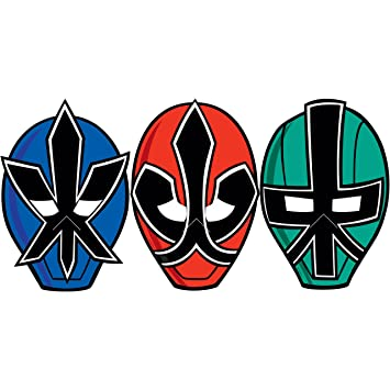 Power Rangers Samurai Birthday Party Masks 8ct Amazon Toys