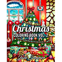 Christmas Coloring Book: An Adult Coloring Book with Fun, Easy, and Relaxing Designs (Volume 2)