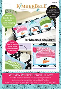 Kimberbell Whimsy Winter Bench Pillow Embroidery CD KD514