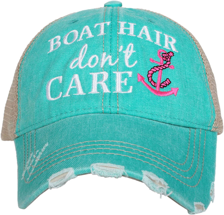 KATYDID Boat Hair Don't Care Baseball Cap - Trucker Hat for Women - Stylish Cute Sun Hat