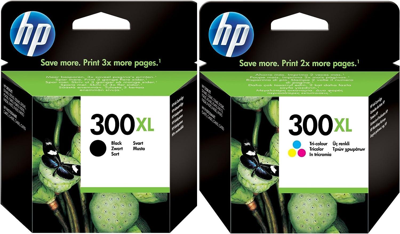 HP 300 X L Negro y Color Cartuchos de Tinta en Papel de Embalaje ...