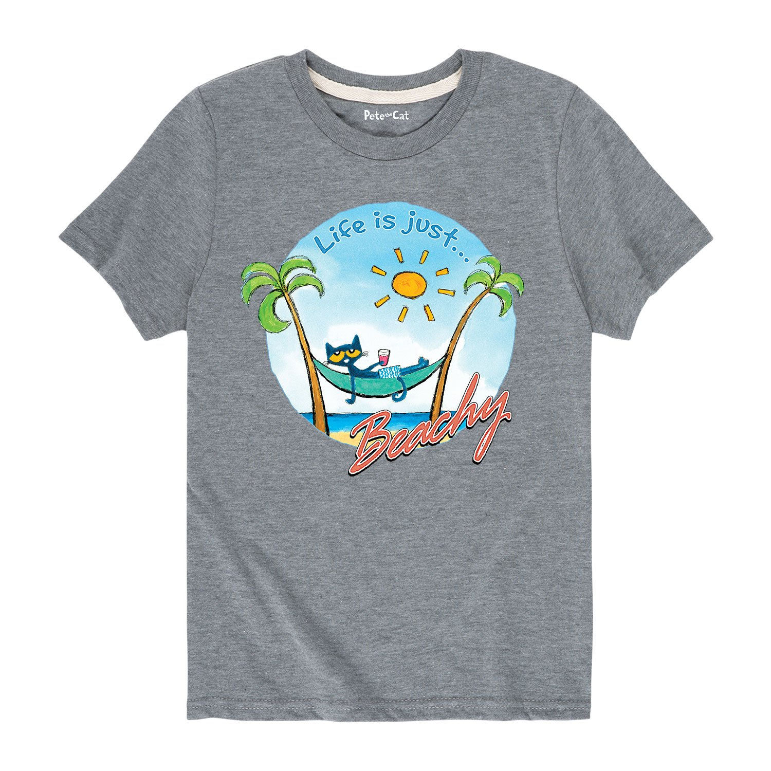 Toddler Short Sleeve Tee Pete the Cat Life is Just Beachy