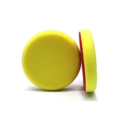 Maxshine Yellow Flat Foam Polishing Pad - 5 Inch/130mm: Automotive