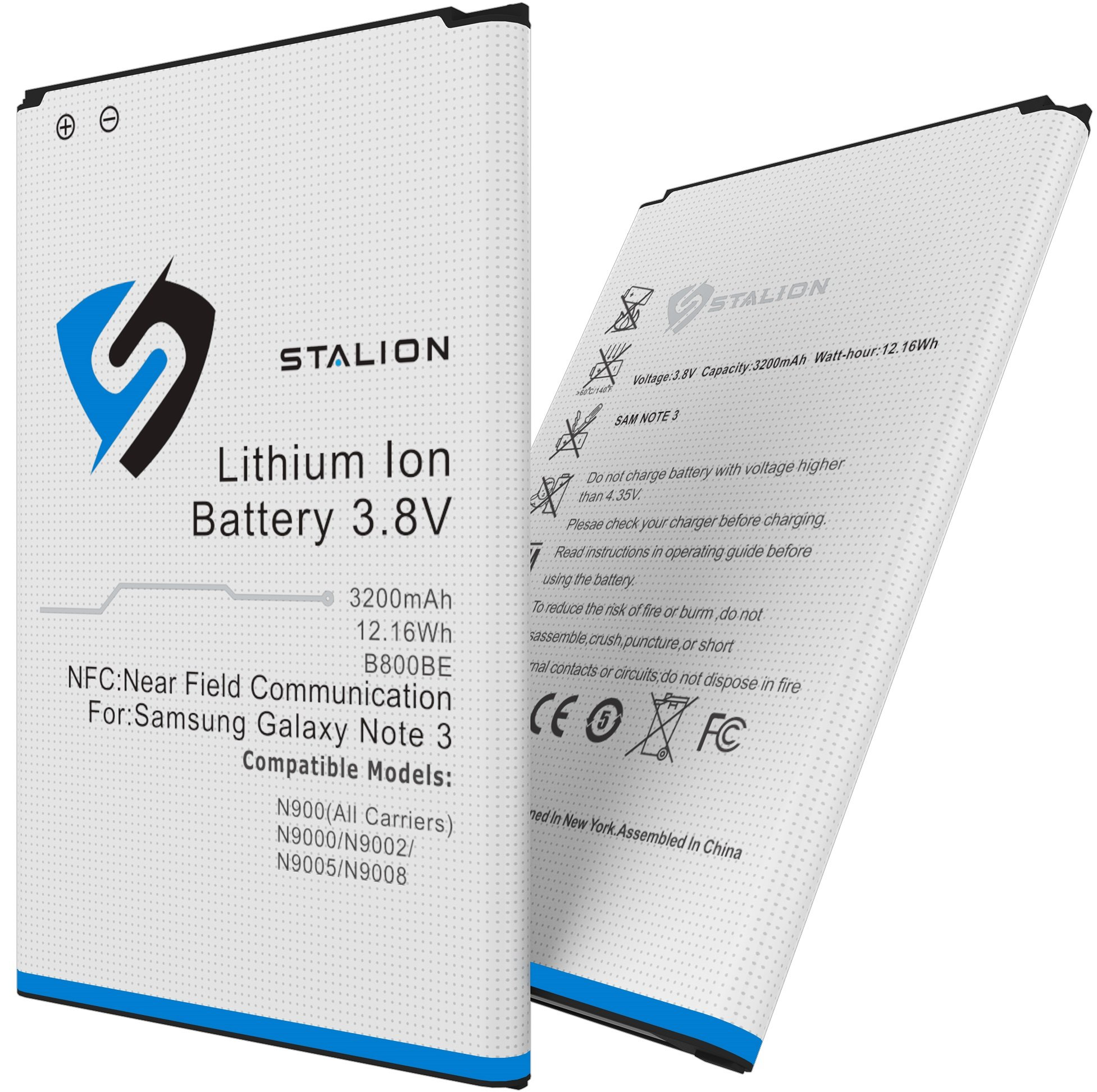 Note 3 Battery : Stalion Strength Replacement 3200mAh Li-Ion Battery for Samsung Galaxy Note 3 [24-Month Warranty] with NFC Chip + Google Wallet Capable