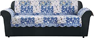 Surefit Heirloom Quilted Sure Fit Hierloom Pet Furniture Cover-Sofa, Bluebell Floral Color