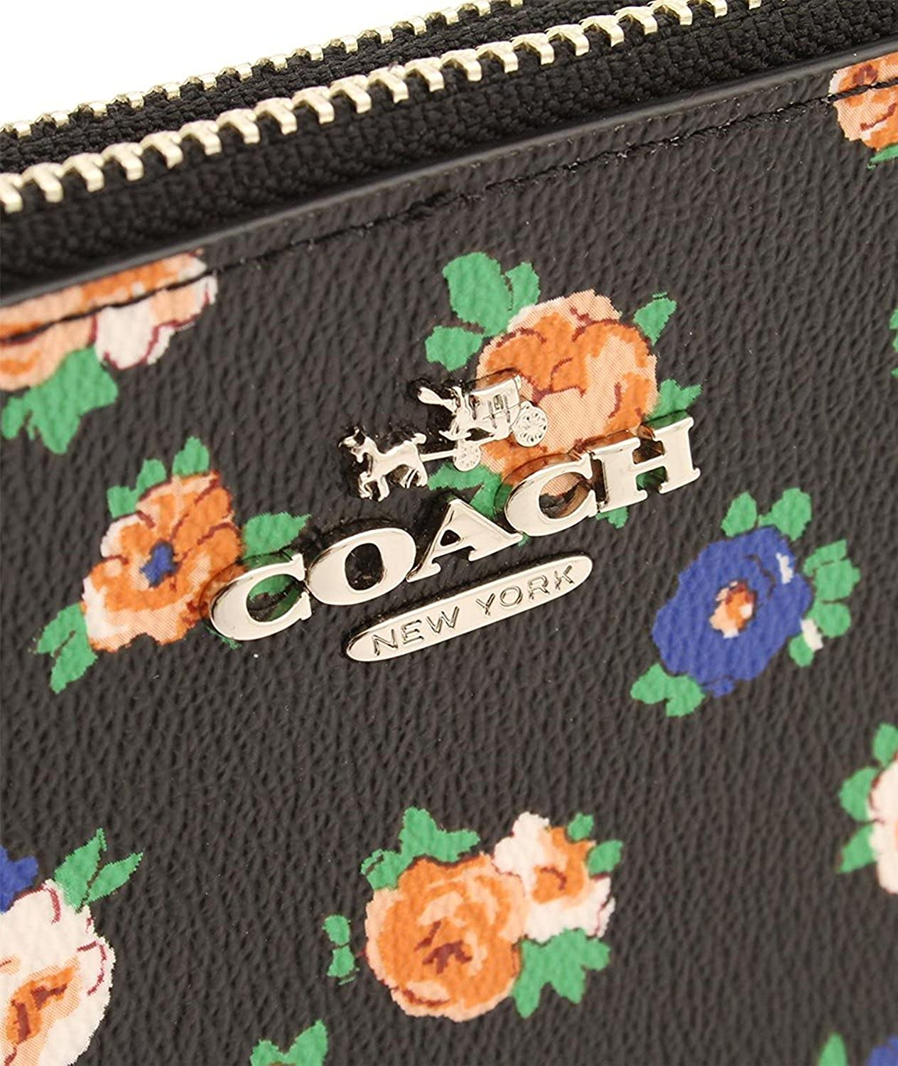 COACH Lyla Crossbody in Floral Coated Canvas Double Zip Crossbody