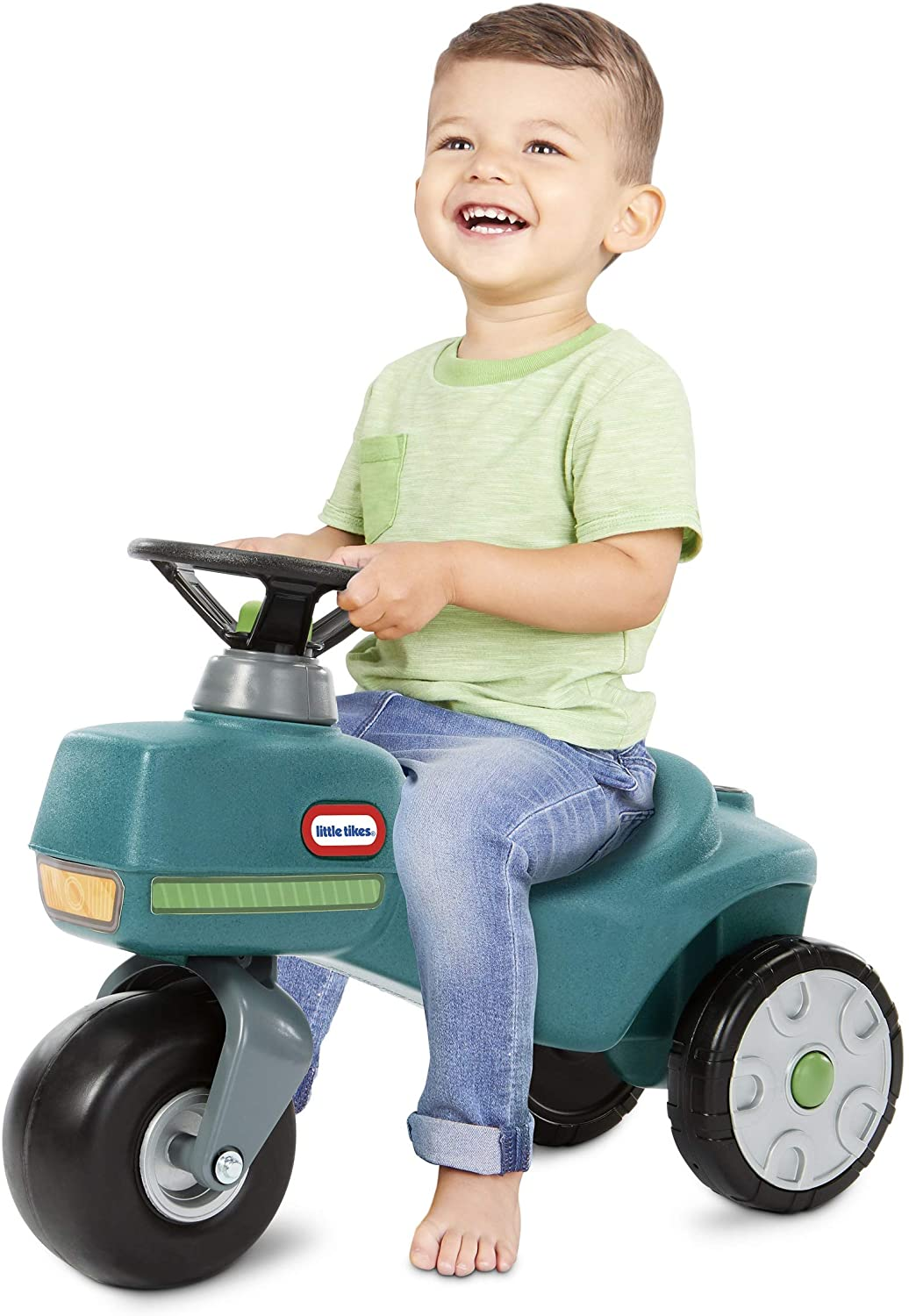 Little Tikes Go Green! Ride-On Tractor for Kids 1.5 to 3 Years | Recycled Plastic