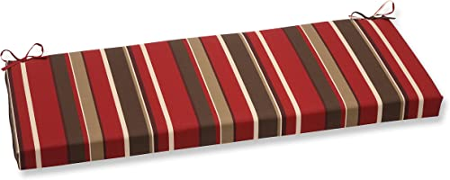 Pillow Perfect Monserrat Bench Cushion, Red,45 x 18 x 2.5 inches