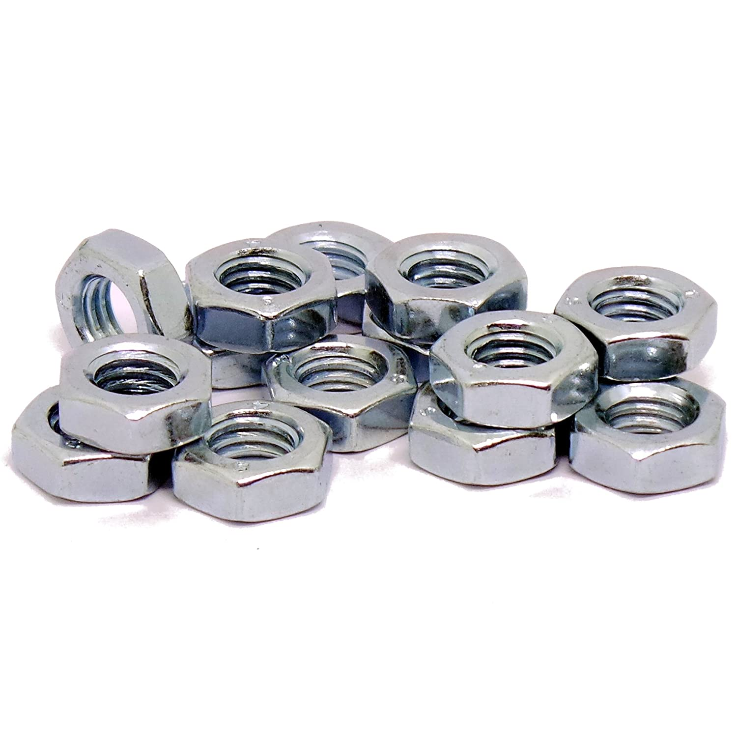 Steel 14mm Half Lock Hex Nut M14 Pack of 10