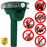 Apexan Outdoor Solar Ultrasonic Animal Repeller, Repels Raccoons, Skunks, Foxes, Bears, Dogs, Cats, Deer, Squirrels, Rabbits, Mice, Woodpecker and other Birds and Rodents | Protect Your Garden!