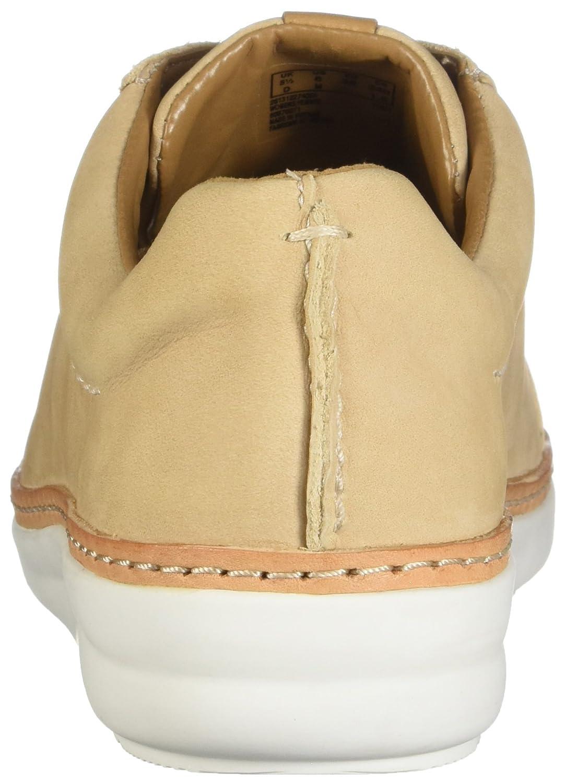 CLARKS Womens 9.5 Amberlee Rosa Sneaker B0762T4GPG 9.5 Womens D US|Nude Nubuck 734e2a