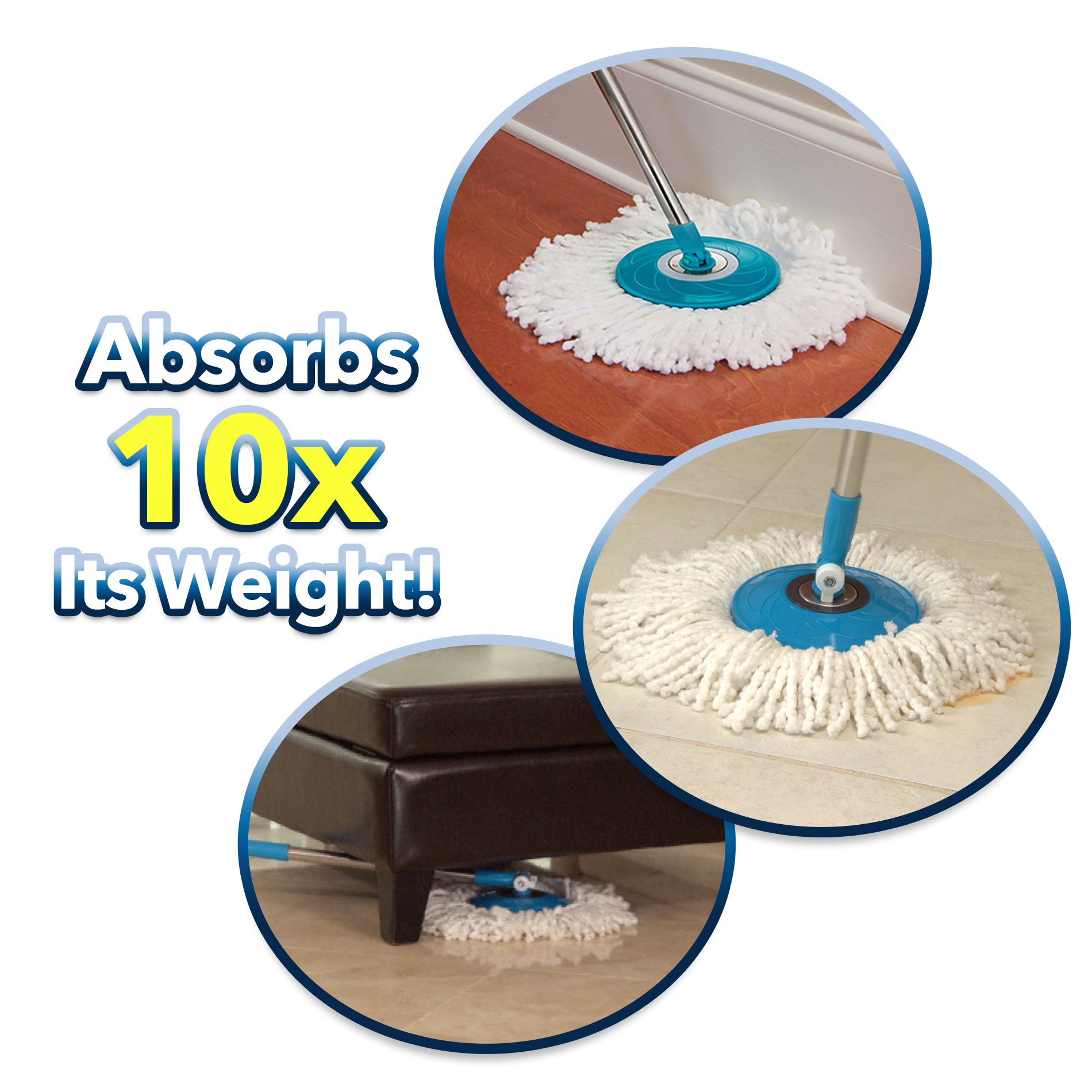 Hurricane Spin Mop Replacement Mop Head by BulbHead by Hurricane (Image #4)