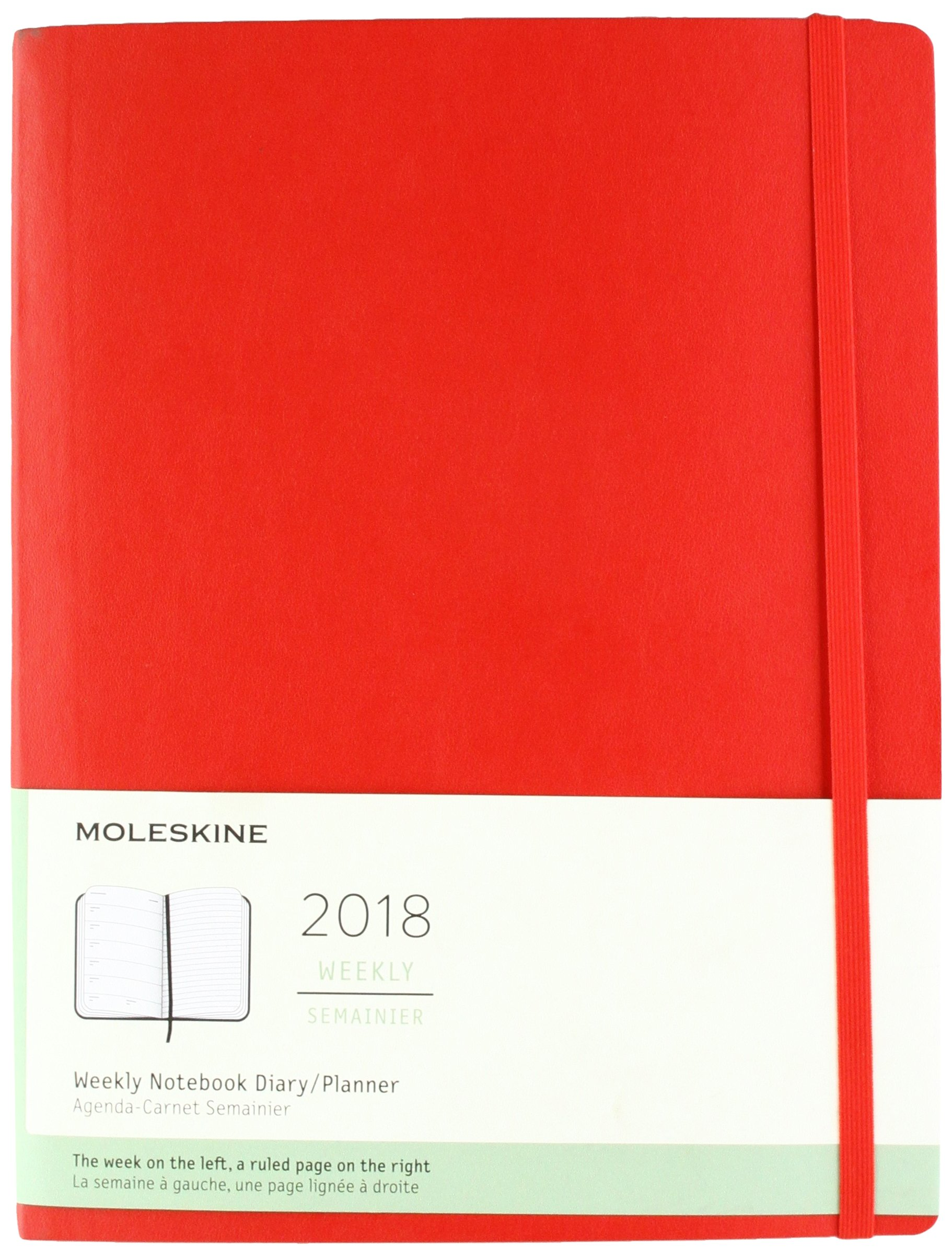 Moleskine 2018 Weekly Notebook Diary / Planner, Extra Large ...