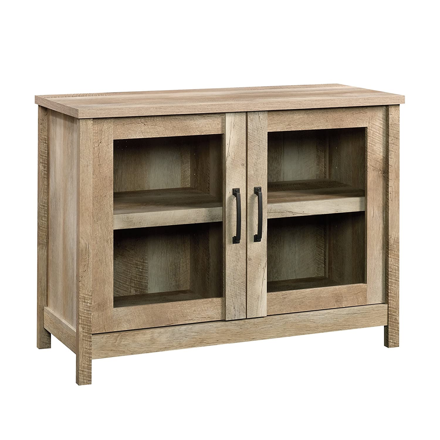 Sauder 420334 Cannery Bridge Display Cabinet, L: 41.10 x W: 17.48 x H: 30.32, Lintel Oak Sauder Woodworking