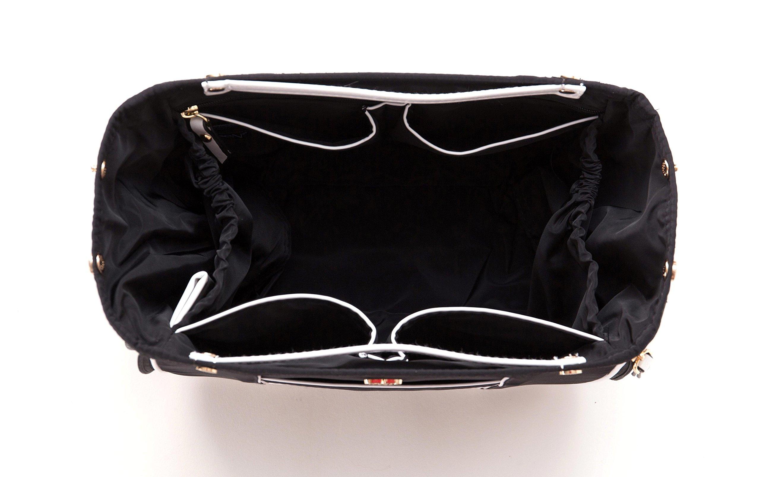 PurseN Handbag Organizer Insert (Small, Blanc Noir)