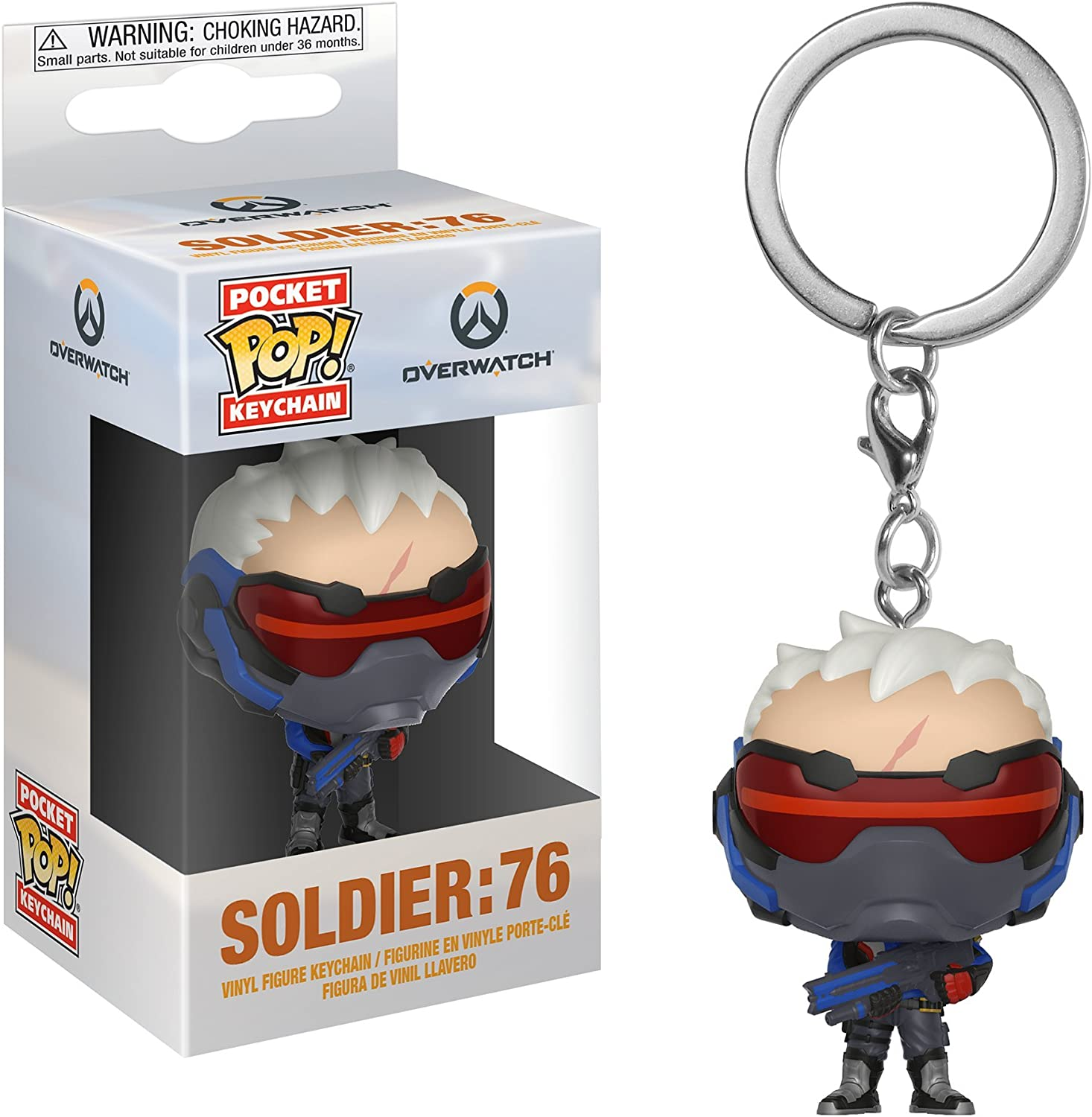 Funko Pop Keychain: Overwatch - Soldier 76 Collectible Figure, Multicolor