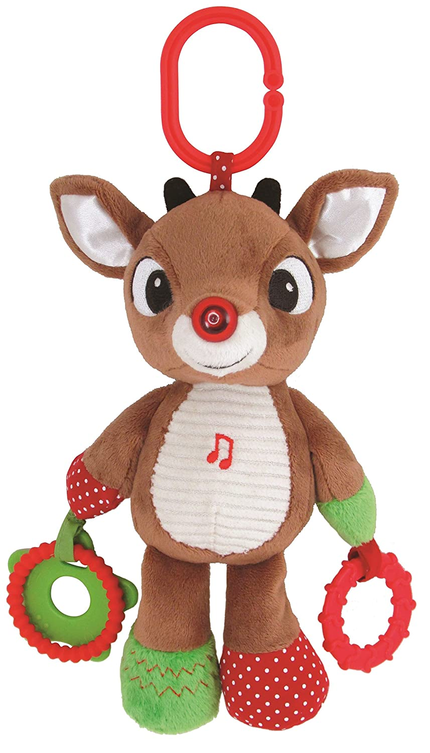 Kids Preferred Rudolph the Red-Nosed Reindeer, Rudolph On the Go Teether Developmental Activity Toy, 12 12 23001