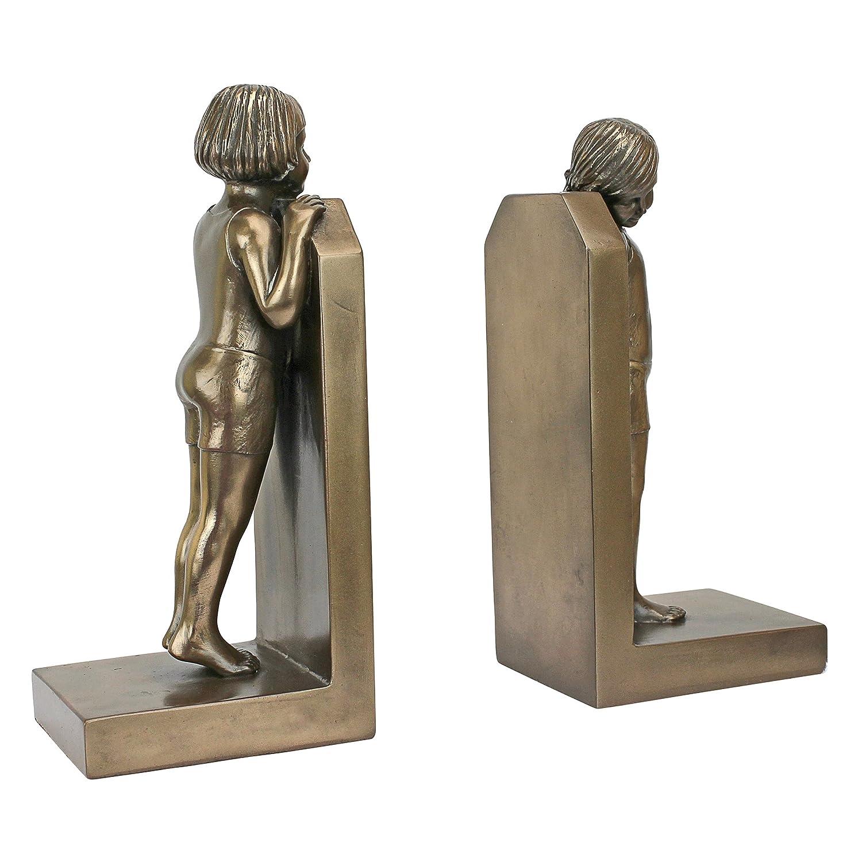 Design Toscano PD3526 Simplicity (1913) Art Deco Children Sculptural Bookend Pair Bronze