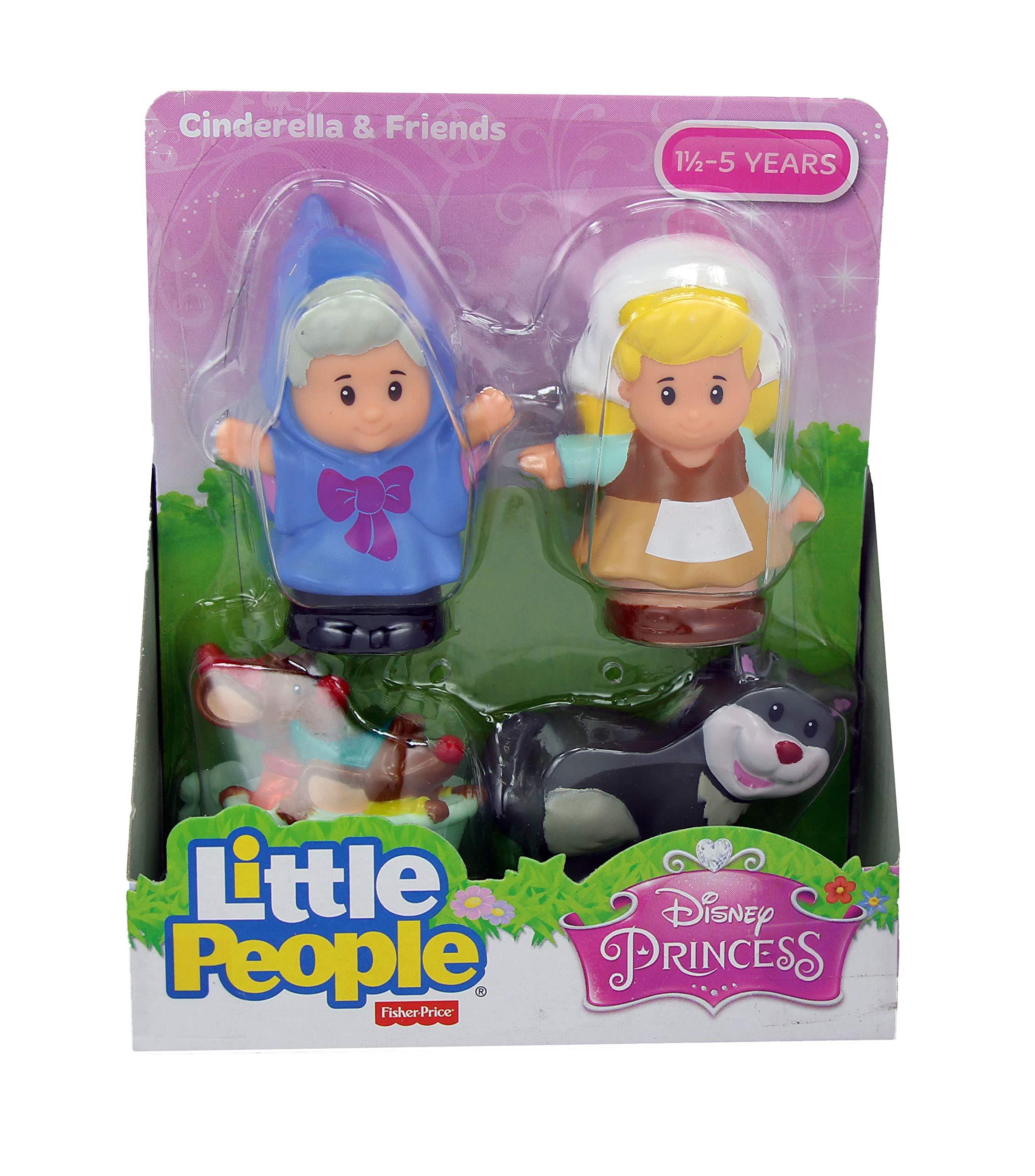 Fisher Price Little People Disney Princess & Friends Figure Set of 4 - Belle, Cinderella, Jasmin & Rapunzel by Disney Princess (Image #4)
