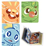Totem World 3 Mini Album for Pokemon Cards - Each Mini Binder Album Holds 60 Cards - Top Load Sleeves Included - Protect Your Deck in Style - Inspired by Grookey, Scorbunny, and Sobble