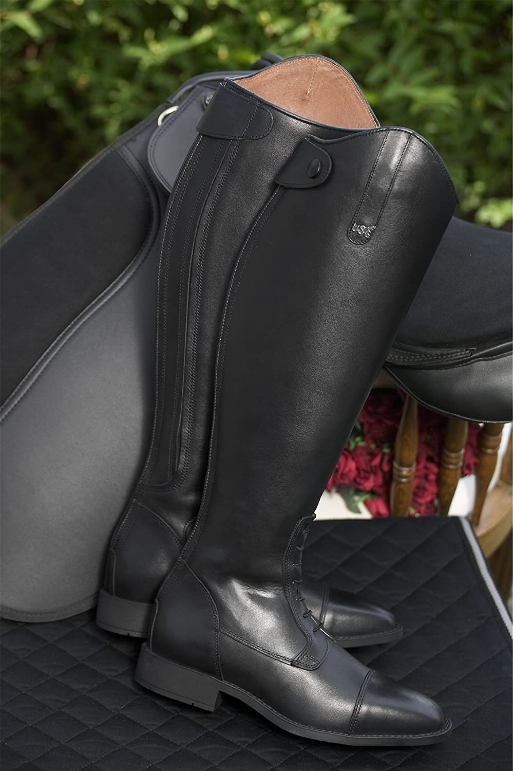 United Sportproducts Germany USG 12050009-438-212 Reitstiefel, schwarz, Gr. 38, SW 38, H 46