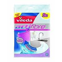 Vileda Actifaser Allzwecktuch für eine streifenfreie Reinigung, 1er Pack (1 x 2 Stück)