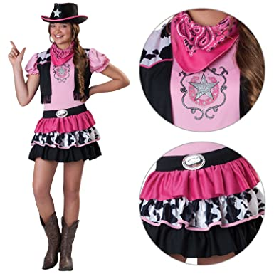 Amscan Girls Cowgirl Pink Fancy Dress Costume - Includes Hat and Bandana!    Kids Wild a628d03ffffa
