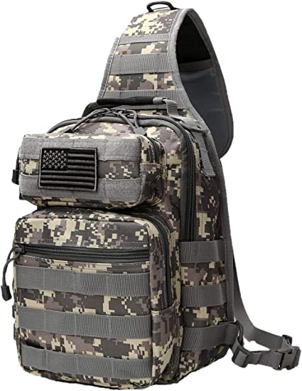 Outdoor Tactical Travel Hiking Military Camo Shoulder Bag Chest Pack Backpack US