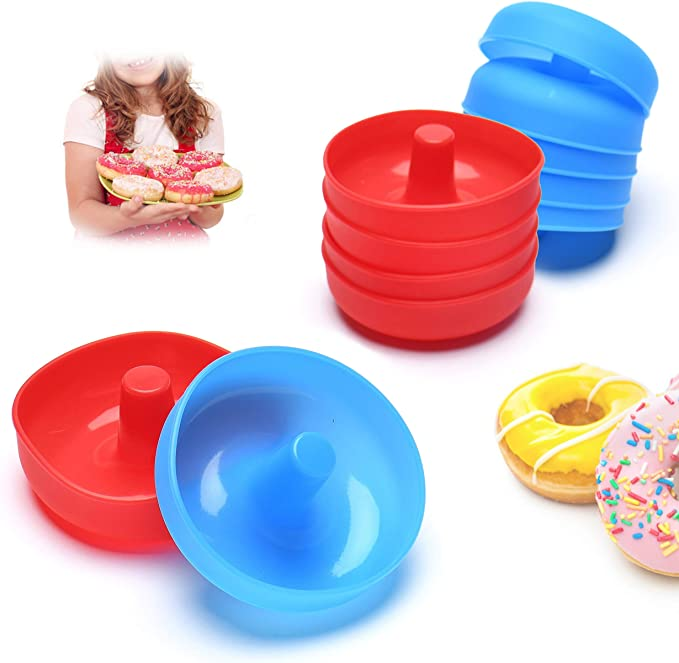 Mini Donut Silicone Mold Biscuit Cake Mold Donut Pans 7.79x5.9inch Purple
