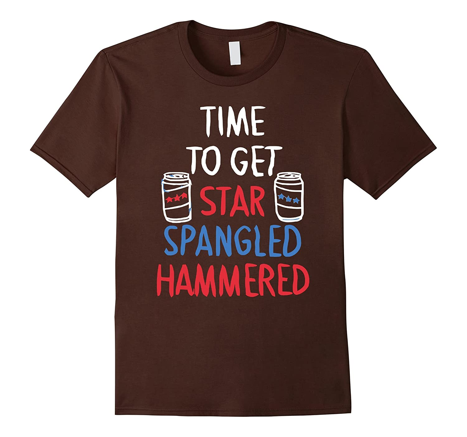 Funny Time To Get Star Spangled Hammered Patriotic T Shirts-Yolotee